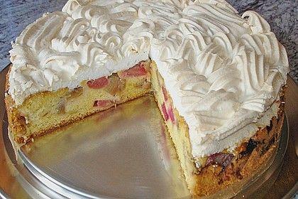 Photo of Rhabarber – Baiser – Kuchen von toskanaloewe   Chefkoch