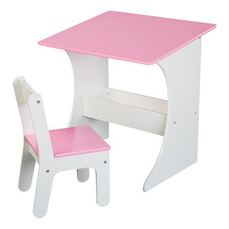 Senda Kids Writing Desk And Chair With Storage Bin Pink Walmart Com Kids Writing Desk Storage Chair Childrens Desk And Chair
