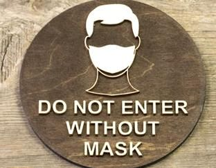 Signs Etchpl Wooden Door Signs Do Not Enter Without Mask Wear Face Mask Wood Sign Surgical Mask Door Plaque In 2020 Wooden Door Signs Door Signs Wooden Doors