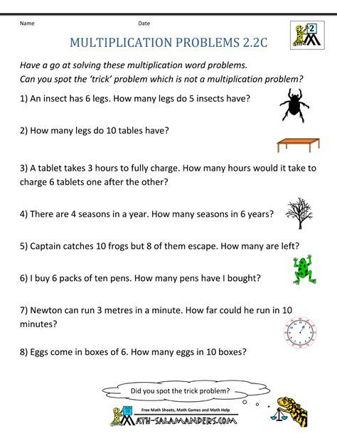 Multiplication Word Problem Worksheets 3rd Grade Word Problems Multiplication Word Problems Math Word Problems