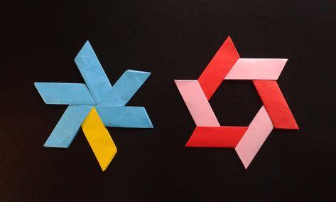 How To Make A Transforming Origami Ninja Star Christmas Ornaments
