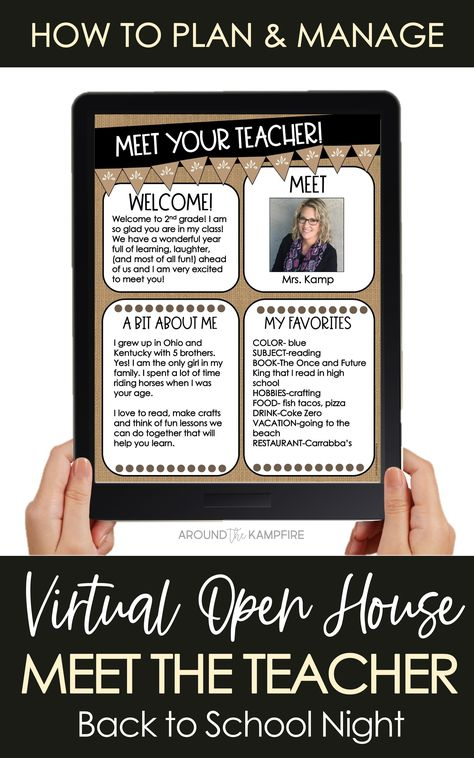 Learn step-by-step how to plan and manage a virtual Meet the Teacher night or back to school night open house. Find meeting ideas, setting up   your video call, digital Meet the Teacher templates, and teacher letters. Download the FREE Meet the Teacher Zoom invitation to send to parents for distance learning.