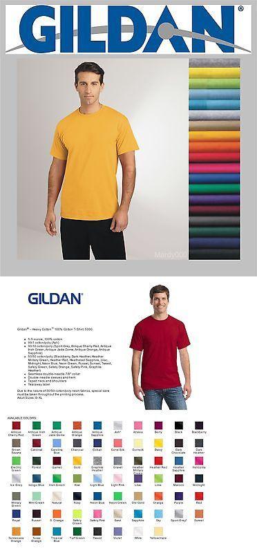 Shirts 50976: 100 Tshirts Blank Lots Bulk Colors White Gildan S-Xl