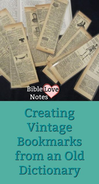 Vintage Dictionary Bookmarks - Making Vintage Bookmarks from old dictionaries. Quick, easy, and fabulous! Vintage Bookmarks, Diy Bookmarks, Crochet Bookmarks, Diy Crafts To Sell, Fun Crafts, Paper Crafts, Tatting Tutorial, Tutorial Crochet, Magazine Crafts