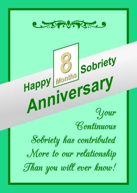8 Months Happy Sobriety Anniversary Card Ad Spon Happy Months Sobriety Card Sobriety Anniversary Cards Sobriety Anniversary Anniversary Cards