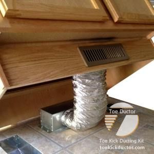 Toe Ductor Floor Vent Kits Best Selling Under Cabinet Hvac Ducting Solution Floor Vents Under Cabinet Home Improvement