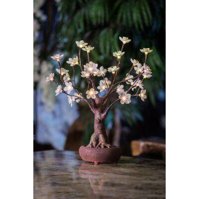 Hi Line Gift Ltd Bonsai Tree With Flower 36 Light Led Lighted Tree Cherry Blossom Bonsai Tree Bonsai Tree White Flowers