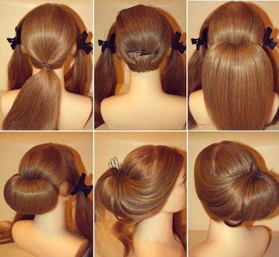 Peinados Para Novias Paso A Paso Peinados Con Pelo Recogido Peinados Faciles Para Cabello Largo Cabello Y Belleza