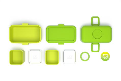 Monbento Tresor groen/kiwi lunchboxset