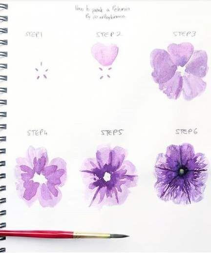28 Ideas For Flowers Sketch Tutorial Watercolor Techniques