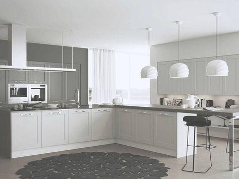 cucine moderne ad angolo-bianche-grigie | Kitchen, Kitchen ...