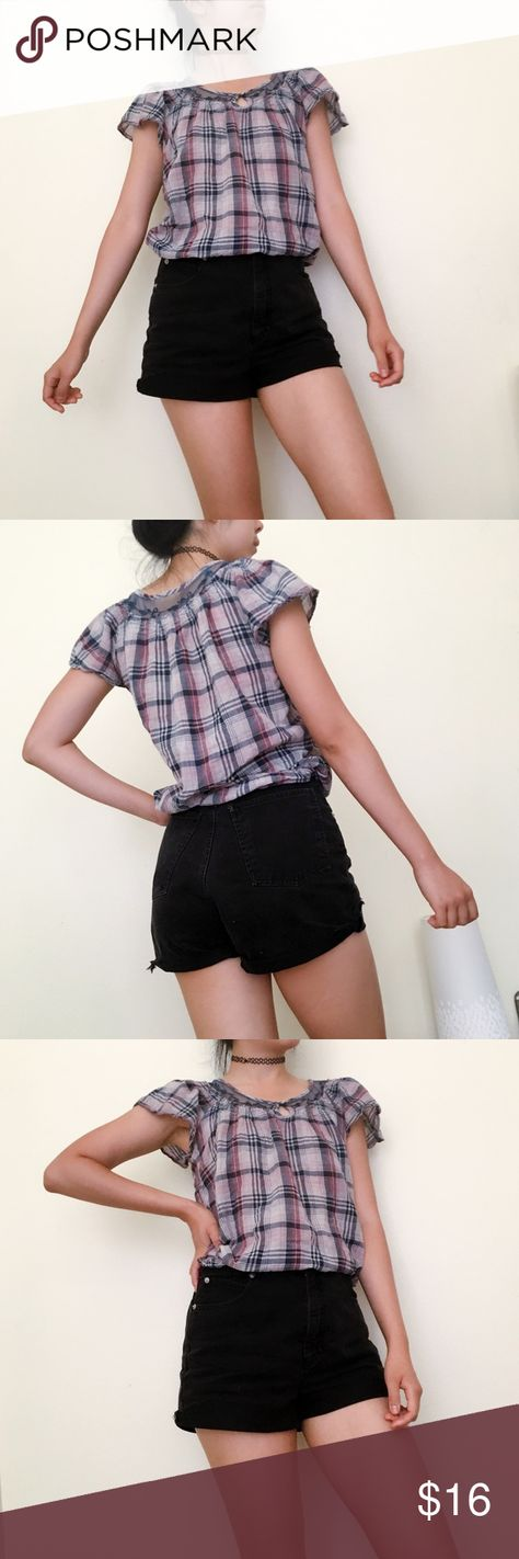 sleeveless Zara cute plaid top💁🏻 Size...