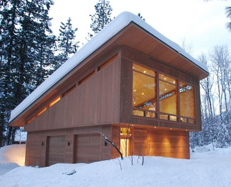 Cedar Garage Modern With Recessed Lights Manufactured Wood Tool Boxes And Cabinets Prefab Garage With Apartment Modern Garage Shed Design