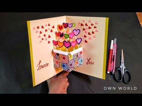 Beautiful Birthday Greeting Card Idea Diy Birthday Pop Up Card