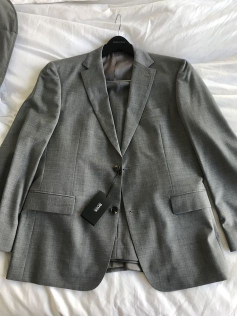 eed3d7ed $885 Hugo Boss Suit Grey Pasolini Movie Super 120 Wool 42S NEW! #fashion #