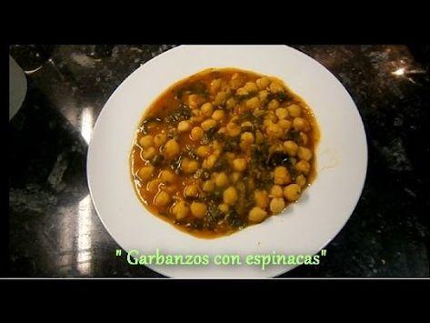 Garbanzos con espinacas 1