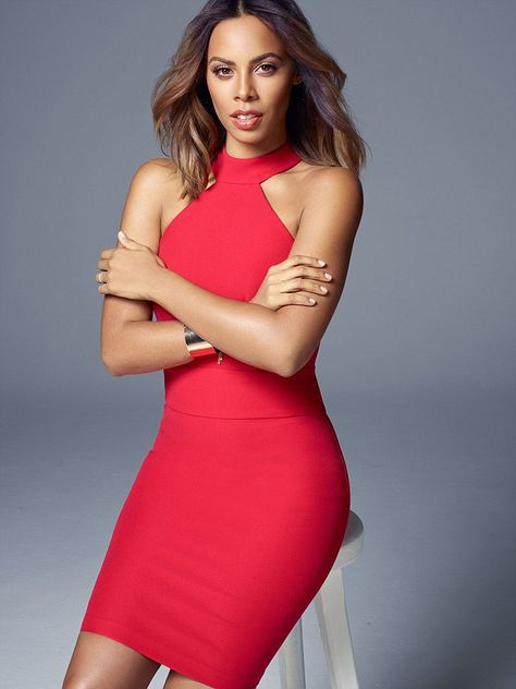 Xtra Factor presenterRochelle Humes shows off her new cropped locks and honed figure as s...