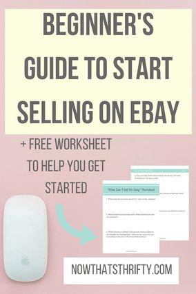 Beginner's Guide to Start Selling on eBay