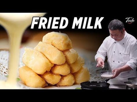 Melt in Your Mouth Fried Milk by Chinese Masterchef • Taste The Chinese Recipes Show - YouTube