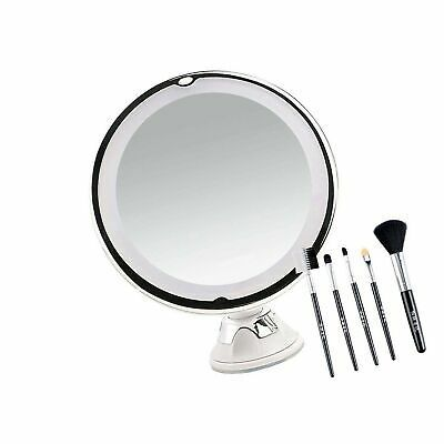 Details About Updated 2020 Version 10x Vanity Magnifying Makeup Mirror With Lights Led Lig In 2020 Makeup Mirror With Lights Mirror With Lights Makeup Mirror