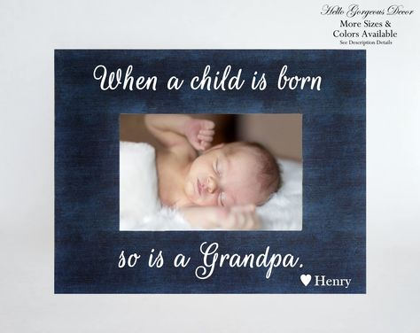 New Grandpa Gift Ultrasound Sonogram Frame