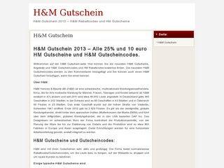 Gutschein h&m at