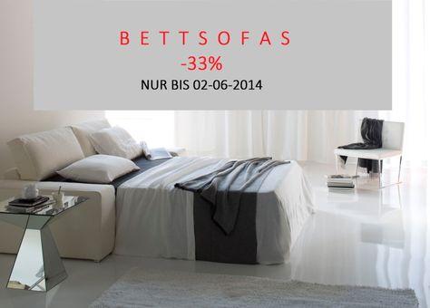 DIMENSIONE BIETET BIS 02-06-2014 DESIGNER BETTSOFAS MADE IN ITALY -33%.  http://www.dimensione-bauhaus.com/de/sonderangebote/89-design-bettsofas/