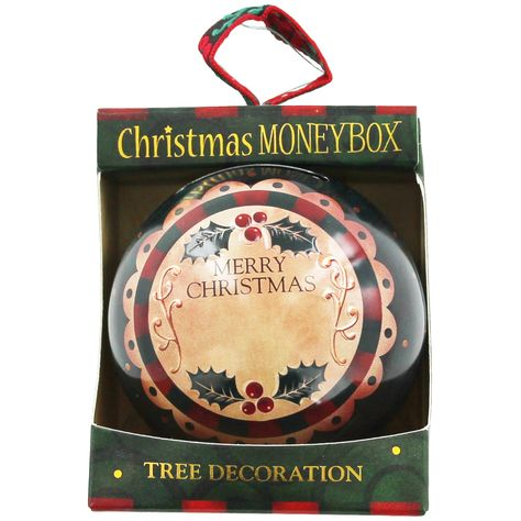 Personalised Money Box Bauble - Green | Christmas - New In! at The Works