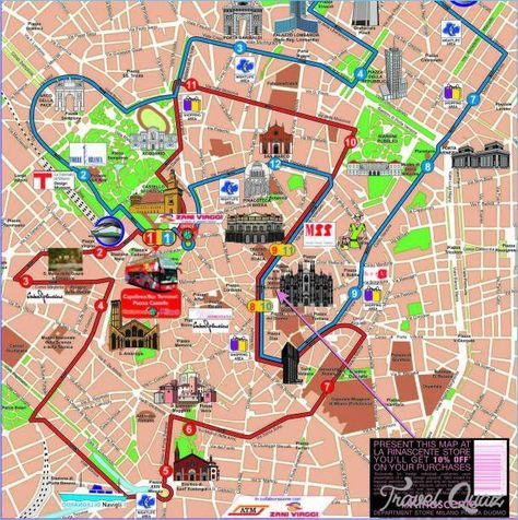 Awesome Milan Map Tourist Attractions Thingstodoinmilan Milan Map Milan Tourist Attractions Milan Travel