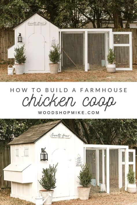 is the perfect backyard chicken coop! With easy to plans, there s no guesswork on how to make one exactly like this, complete with board and batten trim and an arched door. Photo: This is the perfect backyard chicken coop! With easy to plans, there s n. Cute Chicken Coops, Chicken Coup, Chicken Coop Designs, Backyard Chicken Coops, Backyard Farming, Chickens Backyard, Chicken Pen, Inside Chicken Coop, Chicken Coop Decor