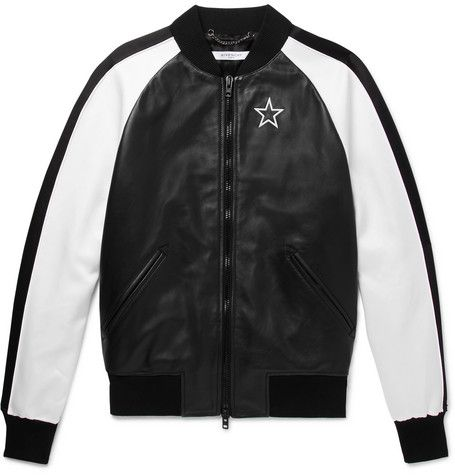 697728a8c GIVENCHY Satin-Panelled Leather Bomber Jacket #givenchy #bomber ...