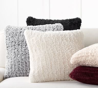 Faux Fur Knitted Pillow Covers Pillow Decorative Bedroom