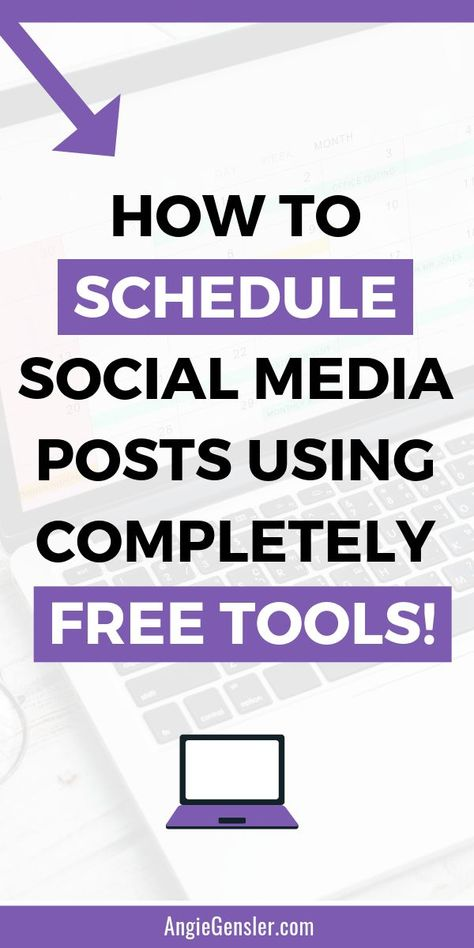 Social media doesn't have to be expensive to automate. Click through to learn how to schedule social media posts using completely free tools. Includes four step-by-step video tutorials that show you how to schedule content without spending a dime! #AngieGensler #SocialMediaTips #SmallBusinessTips #SocialMediaMarketing via @angiegensler