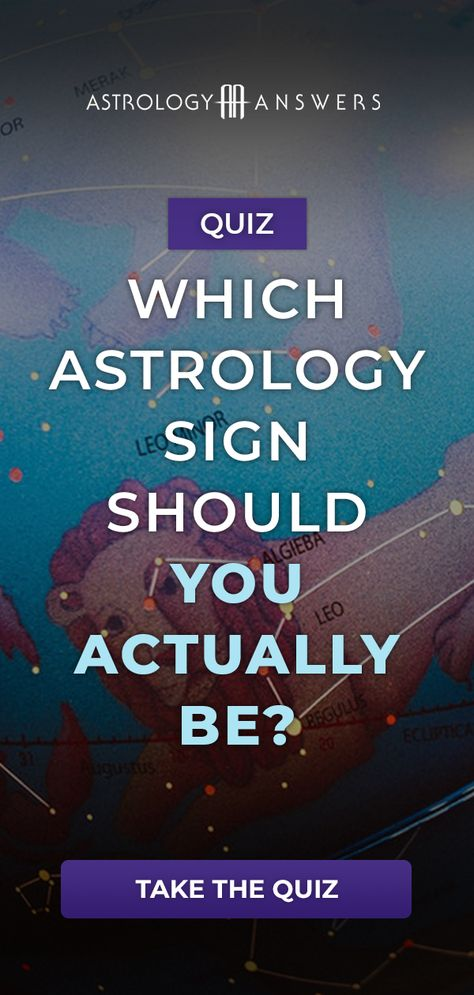 You know your sun sign, but what sign should you actually be? This quiz will tell you!  #astrologyquiz #planets #quizzes #zodiacsign #sunsign