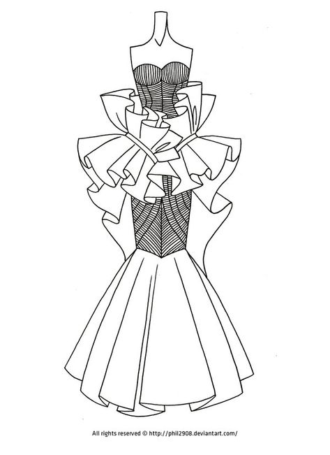 Fashion Lineart .11 by anotherphilip.deviantart.com on @deviantART