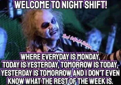 27 Relatable Night Shift Memes For All Nurses - Humor Night Nurse Humor, New Nurse Humor, Night Shift Humor, Night Shift Nurse, Funny Nurse Quotes, Medical Humor, Working Night Shift, Night Shift Quotes, Nurse Jokes