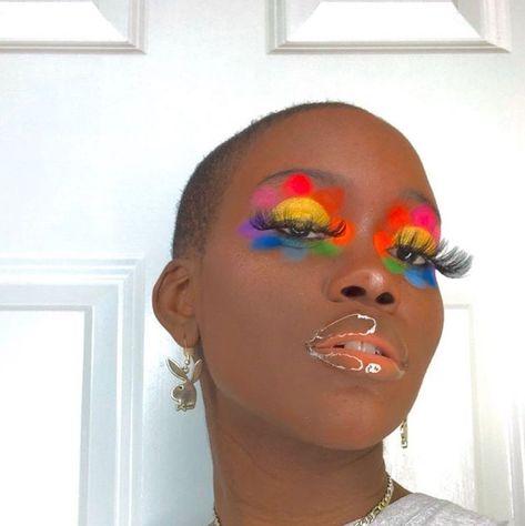 Indie Makeup, Edgy Makeup, Black Girl Makeup, Girls Makeup, Makeup Inspo, Makeup Inspiration, Grunge Makeup, Grunge Hair, Makeup Trends