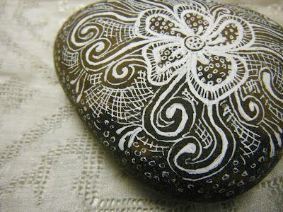 FallingLadies: painted rocks
