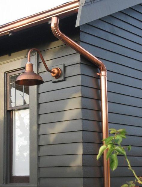 Copper Gooseneck Lighting for 1920s Craftsman Style Home | Blog | BarnLightElectric.com
