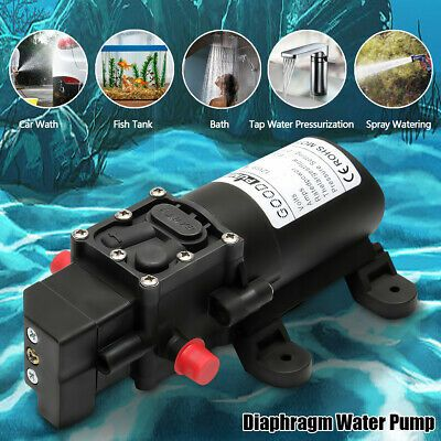 Ad Ebay Url 130psi 6l Min Straight Water High Pressure Diaphragm Self Priming Pump 12v 70w In 2020 High Pressure Water Pipes Pumps