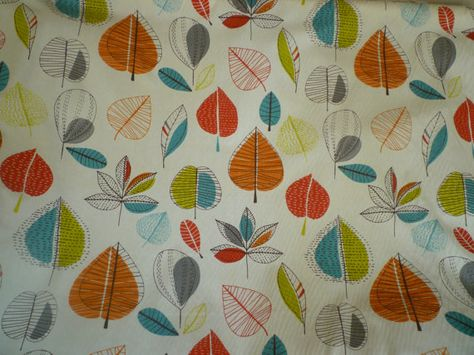 Orange Fabric Blue Red Green Funky Uk Cotton Fabric Per Yard Etsy Curtain Fabric Teal Lime Curtains Curtain Fabric
