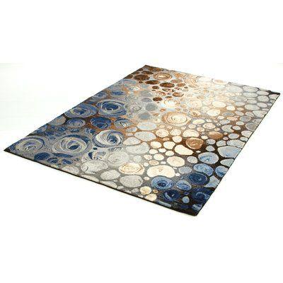 Teppich Dollis In Grau Blau Teppich Moderne Teppiche Blau