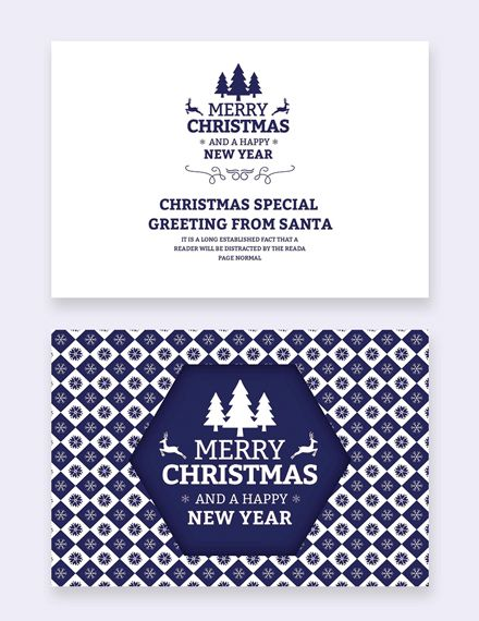 Free Christmas And New Year Card Template Word Psd Apple Pages Publisher Outlook New Year Card Christmas Templates Free Card Template