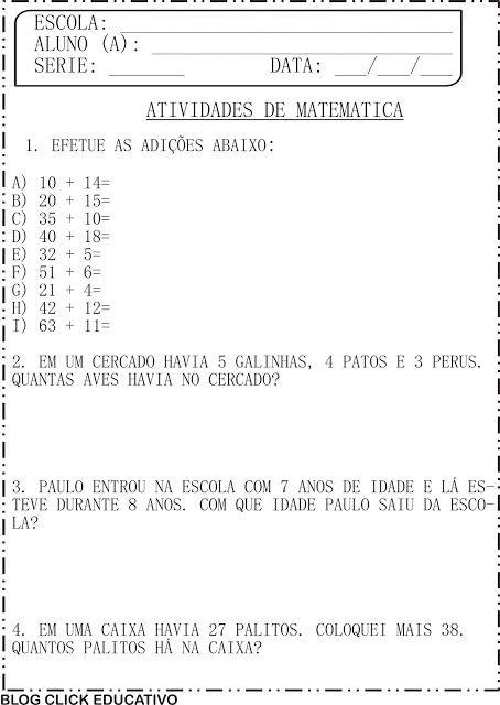Maio 2017 Clicks Educativos Atividades De Matematica