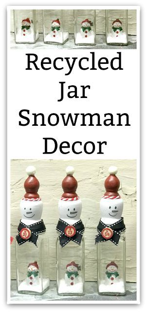 Snowmen in a Jar Christmas Decorations | Homeroad.net #ChristmasCountDown #ChristmasDay #ChristmasEve #ChristmasGift #ChristmasGifts #ChristmasJoy #ChristmasParty #ChristmasPresent #ChristmasPresents