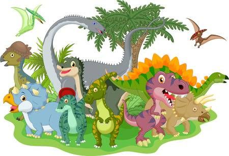 Dinosaurio Grupo De Dibujos Animados Dinosaurios Animados Imagenes De Dinosaurios Animados Dinosaurios Dibujos Animados