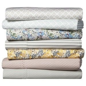 These are the best sheets!!  Threshold™ Performance Sheet Set - Pattern -Target.   Soft, cotton, and they stay on!