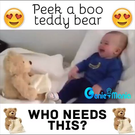 👶👶 Babies are loving this Teddy Peek-a-boo Bear 😍 Perfect Gift for your little ones 🎁