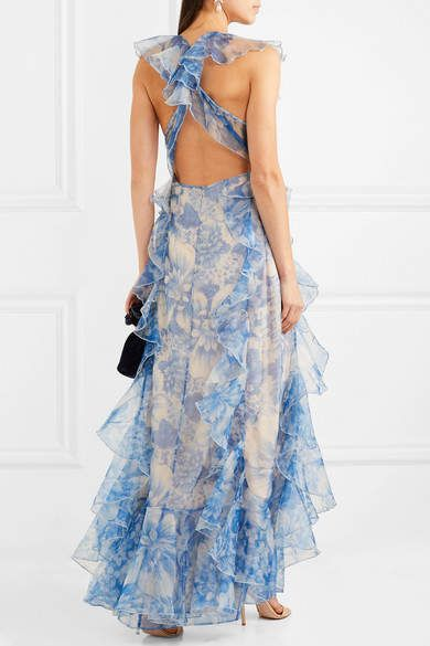 e99b53993b55 alice McCALL Oh My Goddess Open-back Ruffled Floral-print Silk-organza Gown   ad  alicemccall  floral  maxi  dress  fashion  gown