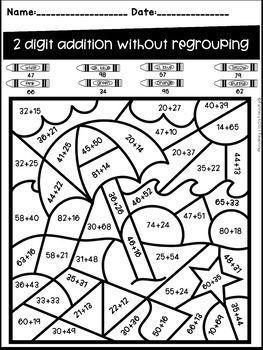 Math Worksheet Multiplying Two Digit Numbers By One Digit Numbers